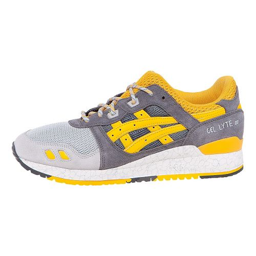 Mens ASICS GEL-Lyte III Casual Shoe - Grey/Yellow 8