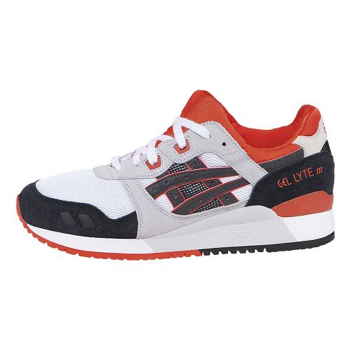 Mens ASICS GEL-Lyte III Casual Shoe - White/Black 12.5