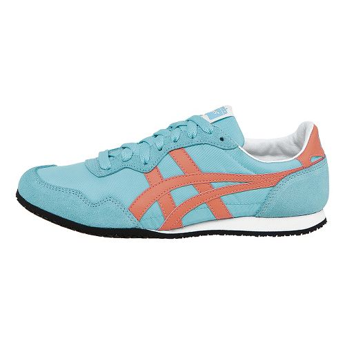 Womens ASICS Serrano Casual Shoe - Teal/Orange 7.5