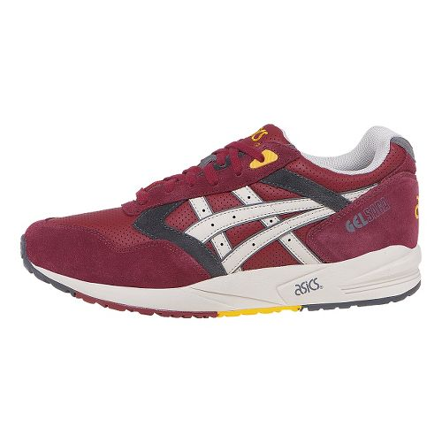 Mens ASICS GEL-Saga Casual Shoe - Burgundy/Off White 10