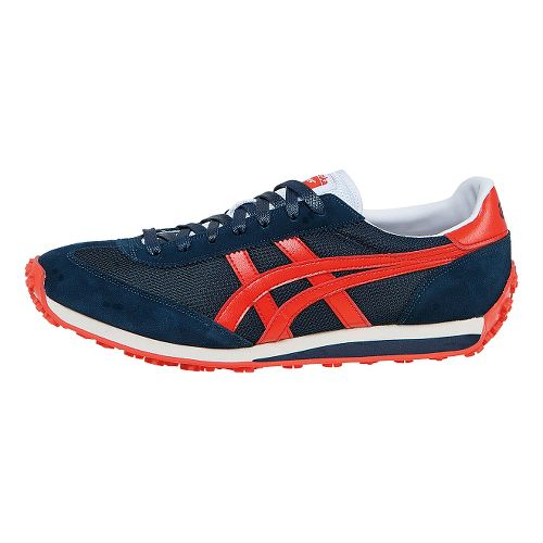Mens ASICS EDR 78 Casual Shoe - Navy/Red 12.5