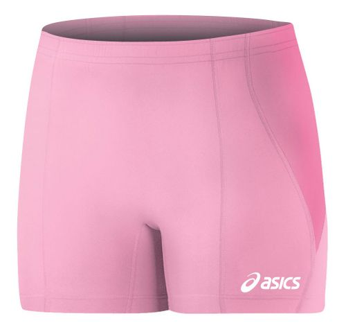 Womens ASICS Baseline Volleyball Fitted Shorts - Pink XXS
