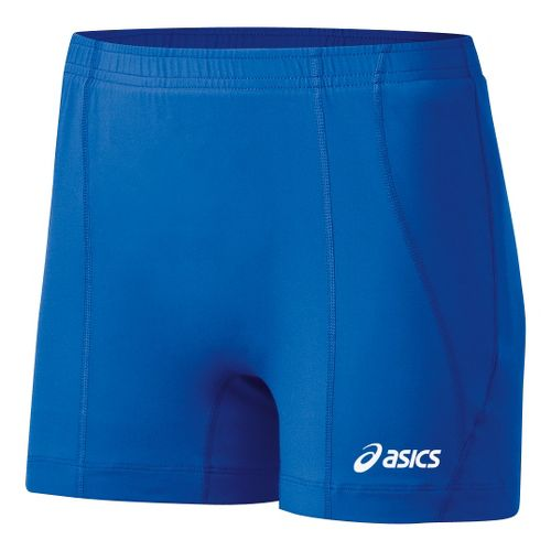 Womens ASICS Baseline Volleyball Fitted Shorts - Royal XL
