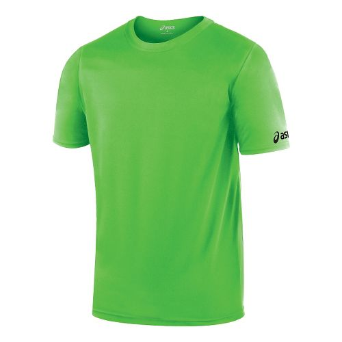 ASICS Circuit-7 Warm-Up Shirt Short Sleeve Technical Tops - Neon Green M