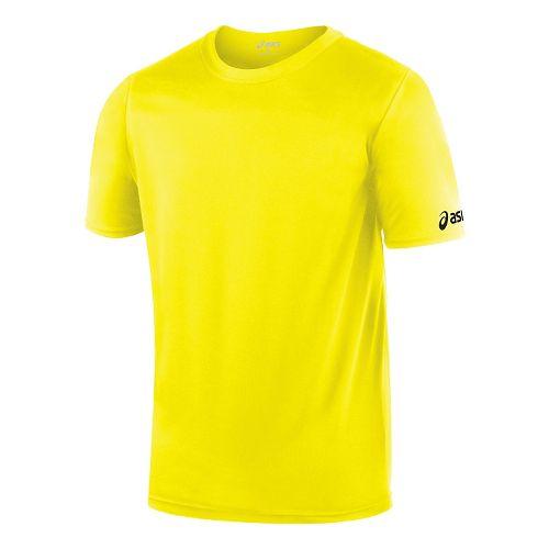 ASICS Circuit-7 Warm-Up Shirt Short Sleeve Technical Tops - Neon XS