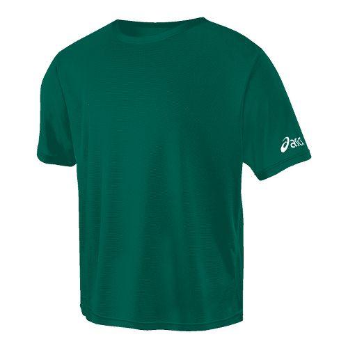 ASICS Circuit-7 Warm-Up Shirt Short Sleeve Technical Tops - Neon Green S