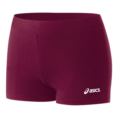 Womens ASICS Low-Cut Fitted Shorts - Cardinal XS