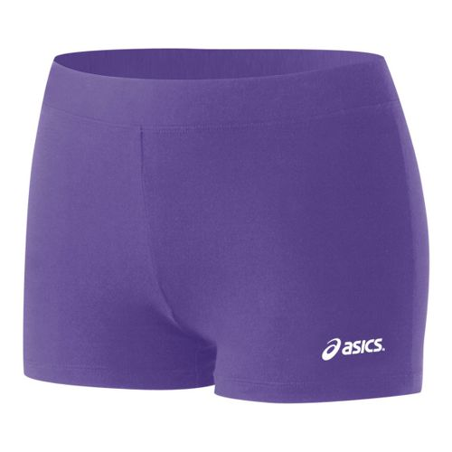 Womens ASICS Low-Cut Fitted Shorts - Purple XXS