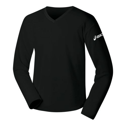 Womens ASICS Circuit-7 Warm-Up Long Sleeve No Zip Technical Tops - Black XS