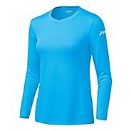 Womens ASICS Circuit-7 Warm-Up Long Sleeve No Zip Technical Tops