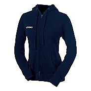 Womens ASICS Fleece Warm-Up Hooded  Jacket
