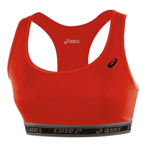 Womens ASICS Compression Team Sports Bra - Red XS
