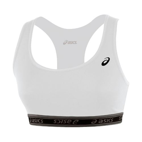 Womens ASICS Compression Team Sports Bra - White M