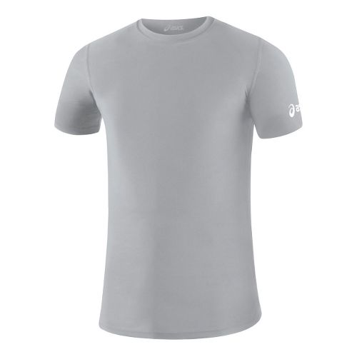 Mens ASICS Compression Short Sleeve Technical Tops - Athletic Grey S