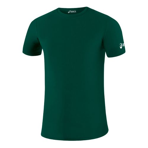 Mens ASICS Compression Short Sleeve Technical Tops - Forest M
