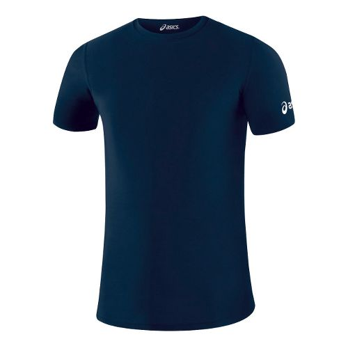 Mens ASICS Compression Short Sleeve Technical Tops - Navy L