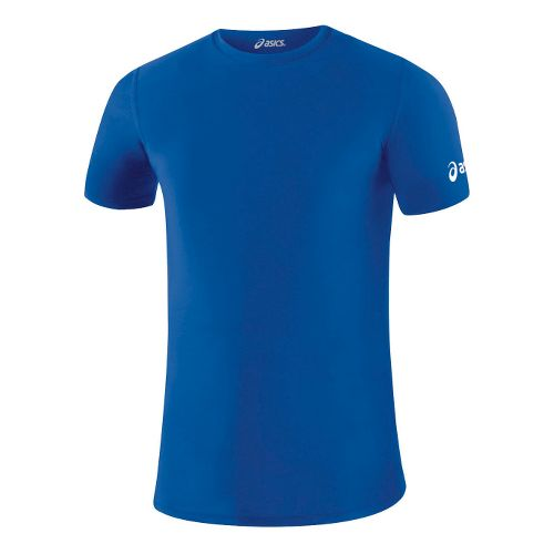 Mens ASICS Compression Short Sleeve Technical Tops - Royal M