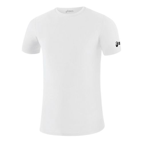 Mens ASICS Compression Short Sleeve Technical Tops - White M
