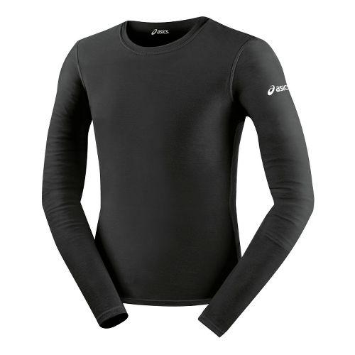 Mens ASICS Compression Long Sleeve No Zip Technical Tops - Black M