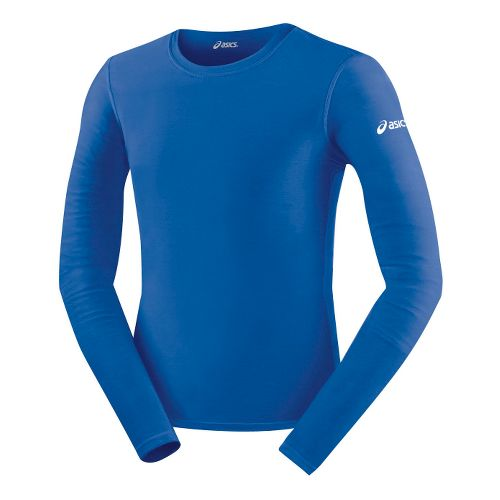 Mens ASICS Compression Long Sleeve No Zip Technical Tops - Royal XXL