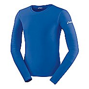 Mens ASICS Compression Long Sleeve No Zip Technical Tops