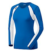 Womens ASICS Heater Long Sleeve No Zip Technical Tops