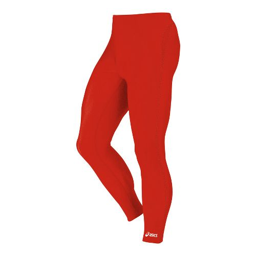 Mens ASICS Medley Fitted Tights - Red M