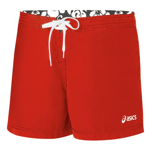 Womens ASICS Aneka Boardshort Unlined Shorts - Red S