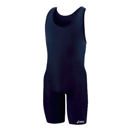 Mens ASICS Solid Modified Singlet Wrestling UniSuits - Navy XXL