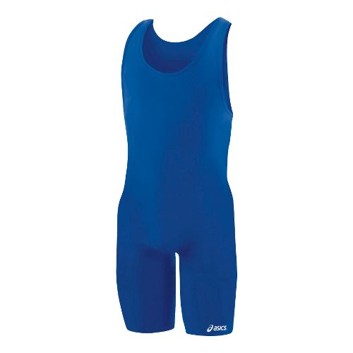 Mens ASICS Solid Modified Singlet Wrestling UniSuits - Royal XXL