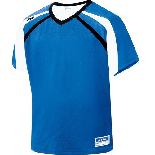 Mens ASICS Crosse Jersey Short Sleeve Technical Tops - Royal/Black L