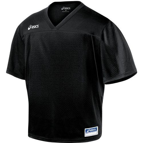 Mens ASICS Cradle Jersey Short Sleeve Technical Tops - Black XL