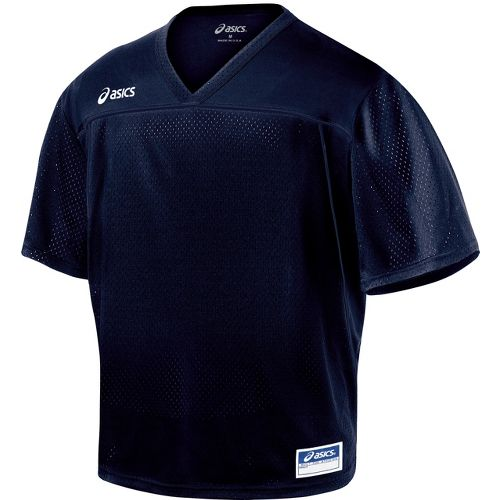 Mens ASICS Cradle Jersey Short Sleeve Technical Tops - Navy XXL