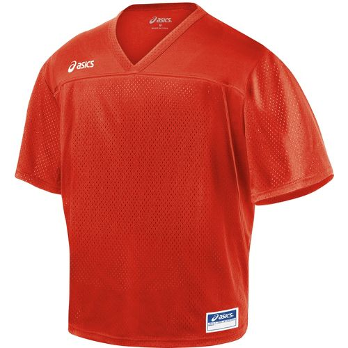Mens ASICS Cradle Jersey Short Sleeve Technical Tops - Red XL