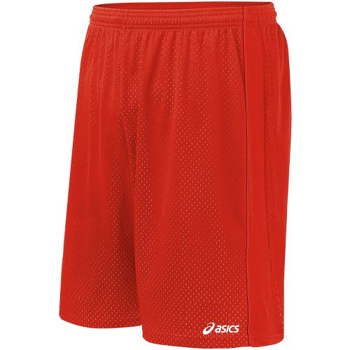 Mens ASICS Cradle Lacrosse Lined Shorts - Red M