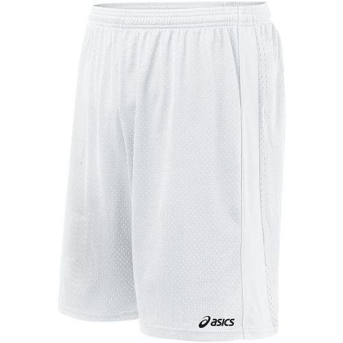 Mens ASICS Cradle Lacrosse Lined Shorts - White XL