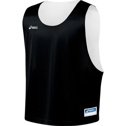 Mens ASICS Lacrosse Scrimmage Vest Tanks Technical Tops - Black/White S/M