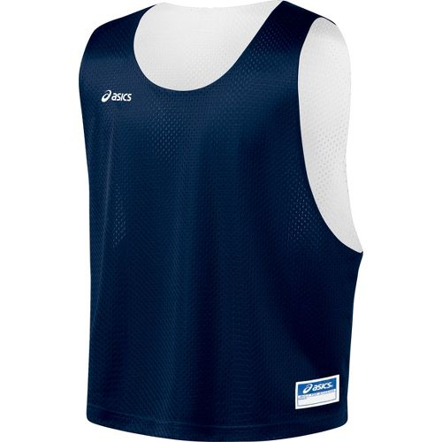 Mens ASICS Lacrosse Scrimmage Vest Tanks Technical Tops - Navy/White L/XL