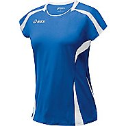 Womens ASICS Blocker Jersey Short Sleeve Technical Tops