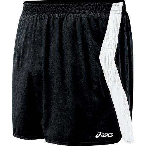 Mens ASICS Intensity Lined Shorts - Black/White S