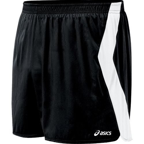 Mens ASICS Intensity Lined Shorts - Black/White XL