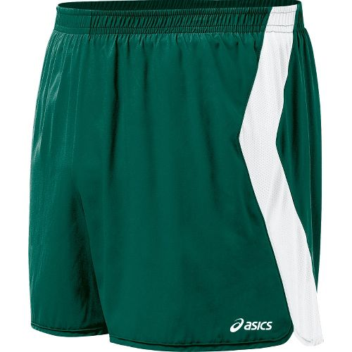 Mens ASICS Intensity Lined Shorts - Forest/White M