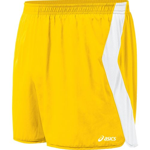 Mens ASICS Intensity Lined Shorts - Gold/White L