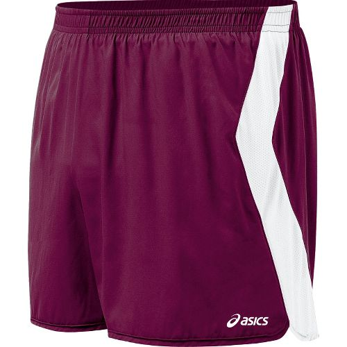 Mens ASICS Intensity Lined Shorts - Maroon/White XXL