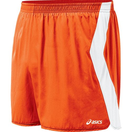 Mens ASICS Intensity Lined Shorts - Orange/White M