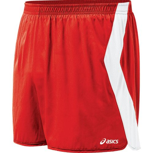 Mens ASICS Intensity Lined Shorts - Red/White M