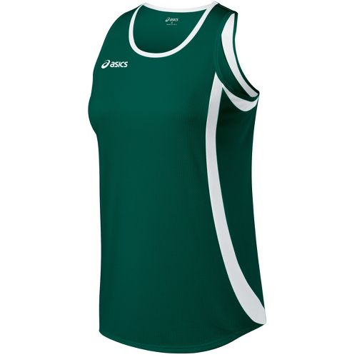 Womens ASICS Intensity Singlet Technical Tops - Forest/White XS