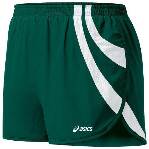 Womens ASICS Intensity 1/2 Split Shorts - Forest/White L