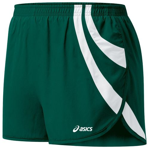 Womens ASICS Intensity 1/2 Split Shorts - Forest/White XL