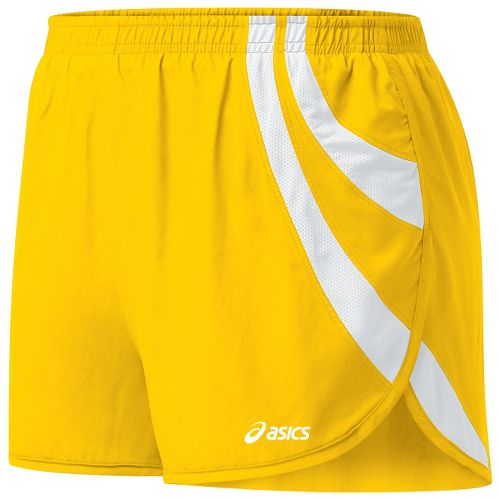 Womens ASICS Intensity 1/2 Split Shorts - Gold/White XS